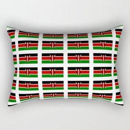 Flag of Kenya -kenyan,kenia,rift valley,serengeti,kilimanjaro,nairobi,mombasa Rectangular Pillow