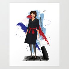 Come fly with me, let's fly, let's fly away - France Art Print