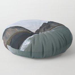 Iceland Mountain Beach Sunrise - Landscape Photography Floor Pillow