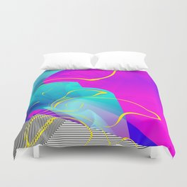 It's Imagination. Breaking Through. Rising Strong Duvet Cover