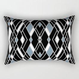 Art Deco Zoom Blue Rectangular Pillow