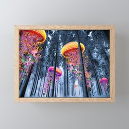 Winter Forest of Electric Jellyfish Worlds Framed Mini Art Print
