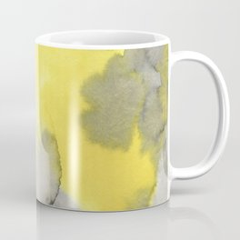 Hand painted gray yellow abstract watercolor pattern Coffee Mug