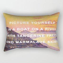 Sunset in the Sky with Diamonds Rectangular Pillow