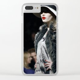 Lady Lips Clear iPhone Case