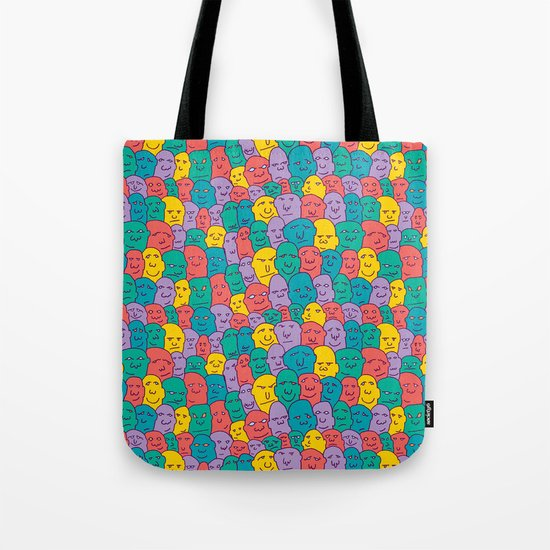 FACES OVER AND OVER Tote Bag