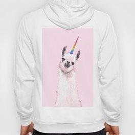 Unicorn Llama in Pink Hoody