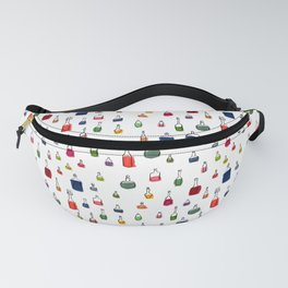 Coloured bottles pattern Fanny Pack