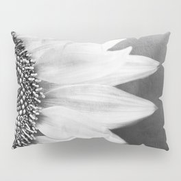 B&W Sunflower Pillow Sham