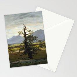 Caspar David Friedrich - Village Landscape in Morning Light / The Lone Tree (1822) Stationery Cards