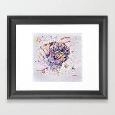 Pug Dog // Pugression Framed Art Print