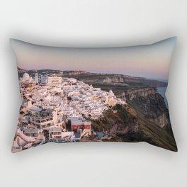 Magic Hour in Thira, Santorini Rectangular Pillow