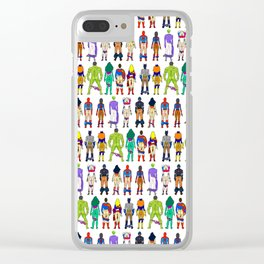 Superhero Butts - Power Couple Clear iPhone Case