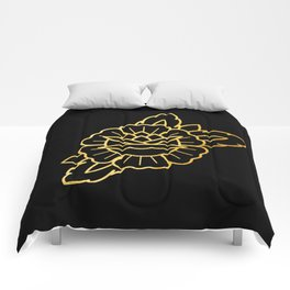Gold Traditional Rose Comforters