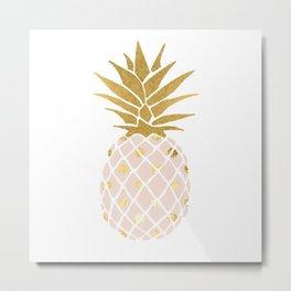 pink & gold pineapple Metal Print