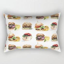 Burgers Rectangular Pillow