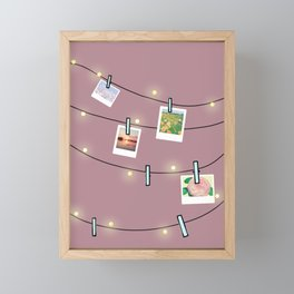 Fairylights Deco Framed Mini Art Print