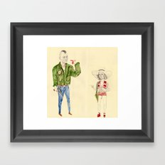 Travis Bickle and Iris Framed Art Print