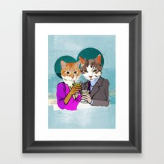 Kitty Cocktails Framed Art Print