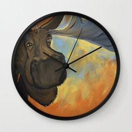 Moosying Along Wall Clock