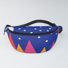 Moonlit Christmas Trees Fanny Pack