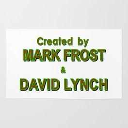 david lynch & mark frost Rug