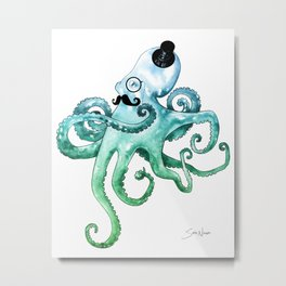 Dapper Octopus Metal Print
