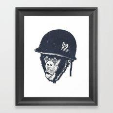 Monkey mania Framed Art Print