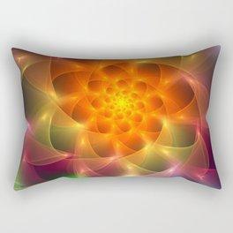 Colourful vortex light dance Rectangular Pillow