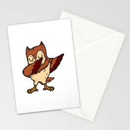 Funny Dabbing Owl Dab Dance Bird Lover Gift Stationery Cards