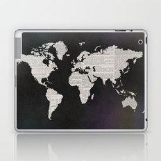 Newsprint World Map Laptop & iPad Skin