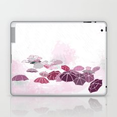 Rainy day in pink Laptop & iPad Skin