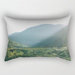 Sunburst in a field in Scotland - Landscape Photography Rectangular Pillow