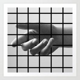 Caged Hand 3 Art Print