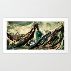 between peaks Art Print