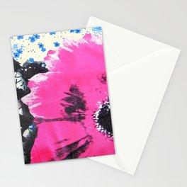 Pink Flower | fleur rose Stationery Cards