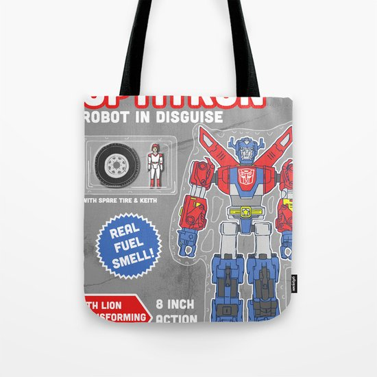 Optitron: Robot in Disguise Tote Bag