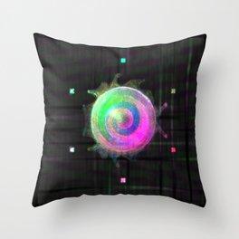 Galactic Snail Throw Pillow