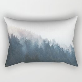 Misty Tillamook Woods Rectangular Pillow