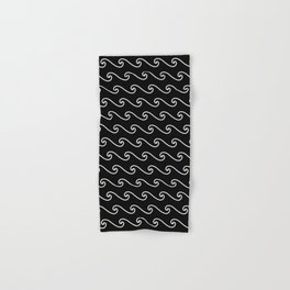 Wave Pattern | Black and White Hand & Bath Towel