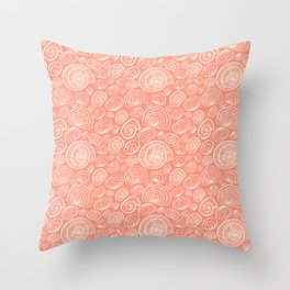 Nautilus pattern Throw Pillow