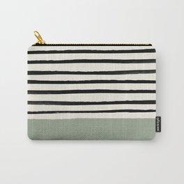 Sage Green x Stripes Tasche