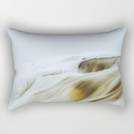Muskrat Falls in Winter  Rectangular Pillow