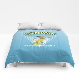Cowabunga Flow-boarding Pop Art Comforters