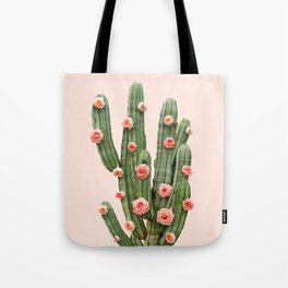CACTUS AND ROSES Tote Bag