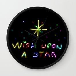 Wish upon a start Wall Clock