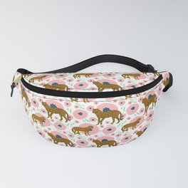 Cheetahs in Flowers Fanny Pack