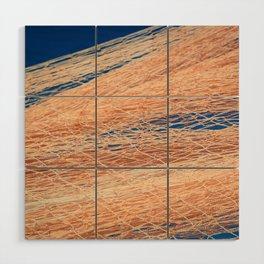 Nylon fishnet texture on the clear sky Wood Wall Art
