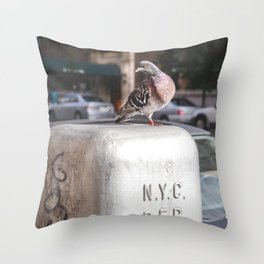 NYC Pigeon Throw Pillow