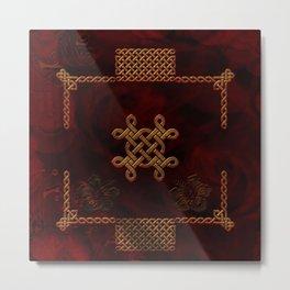 Celtic knote, vintage design Metal Print